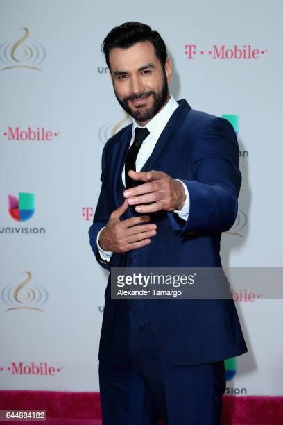 Actor David Zepeda attends Univision's 29th Edition of Premio Lo Nuestro A La Musica Latina at the American Airlines Arena on February 23 2017 in...