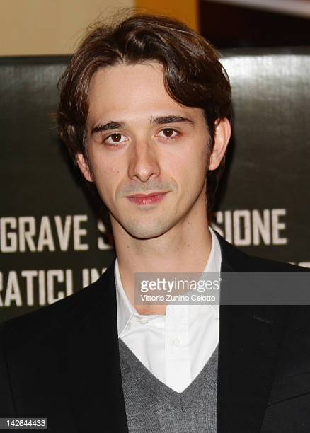 Actor Davide Iacopini attends 'Diaz Don't Clean Up This Blood' premiere on April 10 2012 in Milan Italy