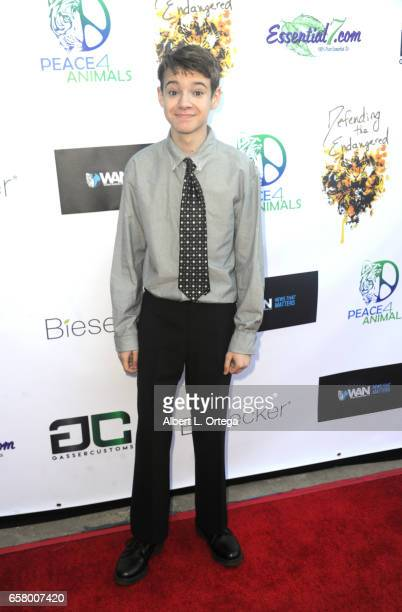 Actor Davis Desmond arrives for the Defending The Endangered presents 'For The Love Of Animals Gala' held at Art Commerce Productions on March 25...