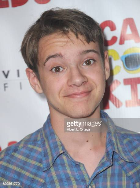 Actor Davis Desmond arrives for the Premiere Of Vision Films' 'Camp Cool Kids' held at AMC Universal City Walk on June 21 2017 in Universal City...