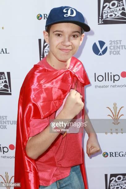 Actor Davis Desmond attends The Lollipop Superhero Walk Presented by 20th Century Fox benefitting Lollipop Theater Network at The Grove on April 30...