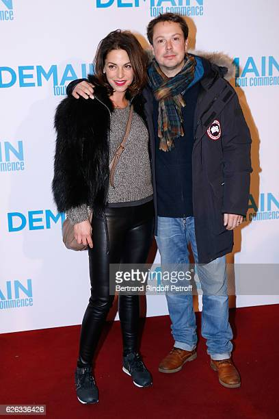 Actor Davy Sardou and his wife actress Noemie Elbaz attend the Demain Tout Commence Paris Premiere at Cinema Le Grand Rex on November 28 2016 in...