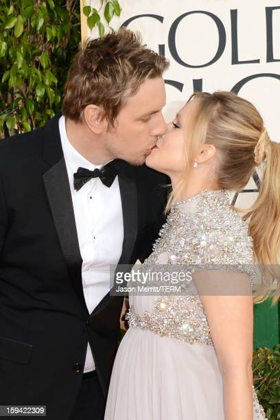 Actor Dax Shepard and actress Kristen Bell arrive at the 70th Annual Golden Globe Awards held at The Beverly Hilton Hotel on January 13 2013 in...