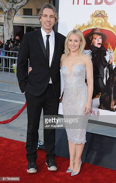 Actor Dax Shepard and actress Kristen Bell arrive at the Los Angeles Premiere The Boss at Regency Village Theatre on March 28 2016 in Westwood...
