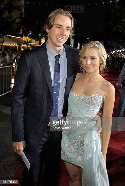 Actor Dax Shepard and Actress Kristen Bell arrive at the Premiere Of Universal Pictures' Couples Retreat held at Mann's Village Theatre on October 5...