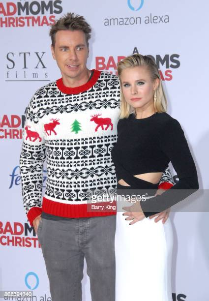 Actor Dax Shepard and actress Kristen Bell attend the premiere of STX Entertainment's 'A Bad Mom's Christmas' at Regency Village Theatre on October...