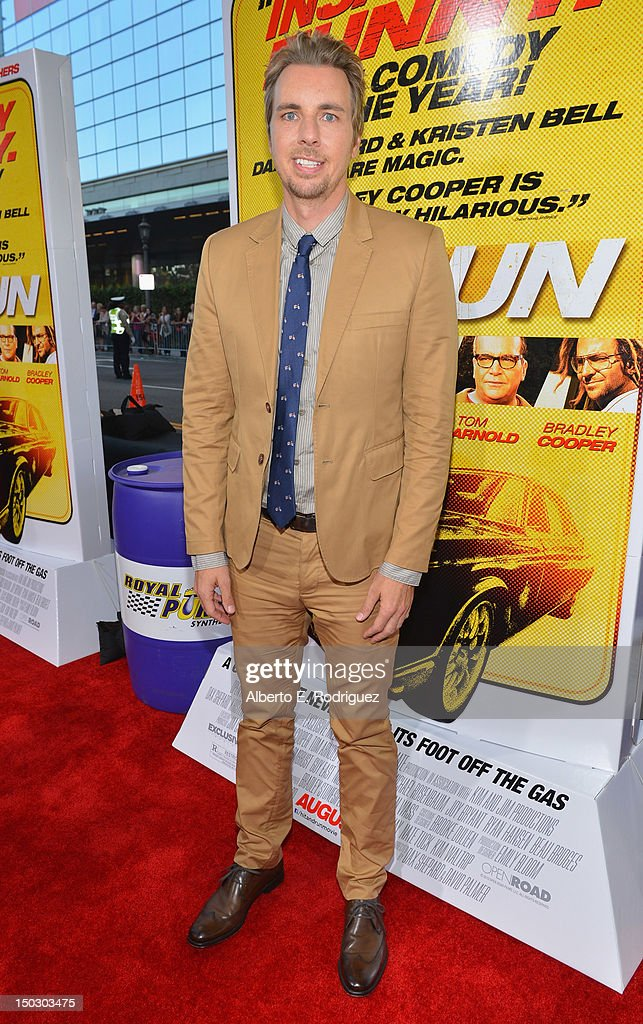 Actor Dax Shepard arrives to the premiere of Open Road Films' 'Hit and Run' on August 14, 2012 in Los Angeles, California.