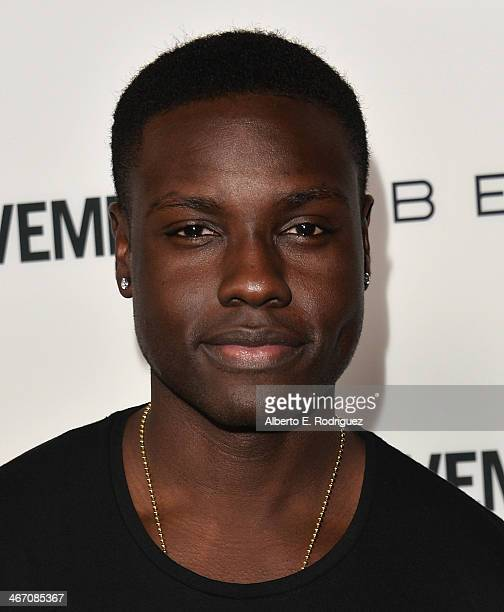 Actor Dayo Okeniyi arrives to the premiere of Cavemen at the ArcLight Cinemas on February 5 2014 in Hollywood California