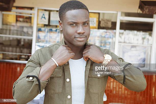 Actor Dayo Okeniyi is photographed for Aritzia Magazine on August 2, 2013 in Los Angeles, California. PUBLISHED IMAGE.