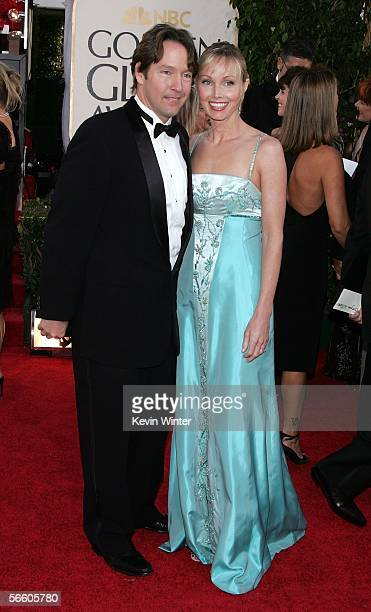Actor D.B. Sweeney and his wife Ashley arrive to the 63rd Annual Golden Globe Awards at the Beverly Hilton on January 16, 2006 in Beverly Hills,...