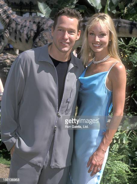 Actor DB Sweeney and wife Ashley Vachon attend the 'Dinosaur' Hollywood Premiere on May 13 2000 at El Capitan Theatre in Hollywood California
