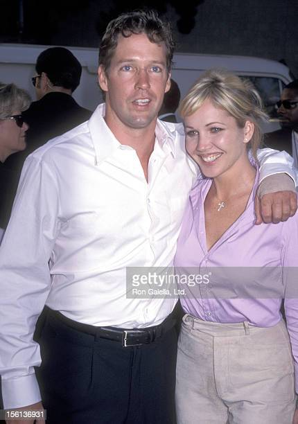 Actor DB Sweeney and wife Ashley Vachon attend the 'Men in Black' Hollywood Premiere on June 25 1997 at Pacific's Cinerama Dome in Hollywood...