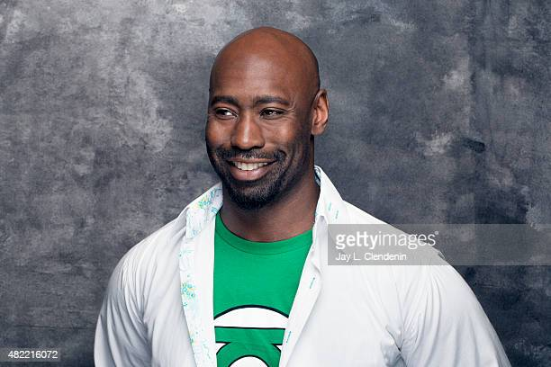 Actor DB Woodside of 'Lucifer' poses for a portraits at ComicCon International 2015 for Los Angeles Times on July 9 2015 in San Diego California...