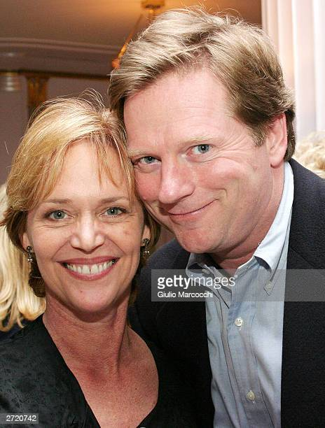 Actor Dean Butler and wife Katherine Cannon attend My Dinner of Herbs by Efrem Zimbalist Jr event at The Hollywood History Museum on November 11 2003...