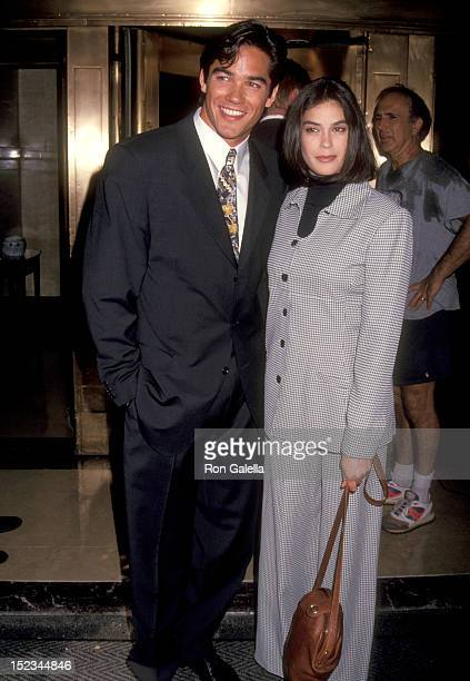 Actor Dean Cain and Acress Teri Hatcher attending ABC Affiliates Party on May 11 1993 at the Westbury Hotel in New York City New York