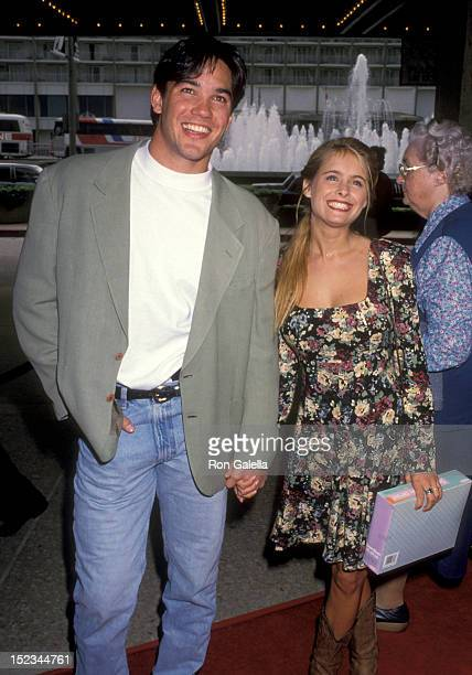 Actor Dean Cain and Actress Ami Dolenz attending 'Home Alone 2 Lost in New York' Century City Premiere on November 15 1992 at United Artists Theatre...