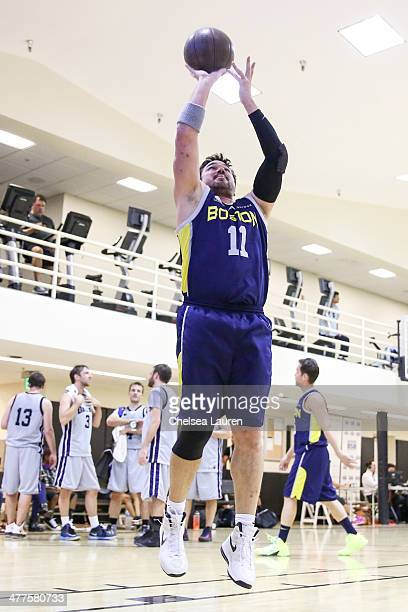 Actor Dean Cain attends the ELeague celebrity basketball league game at Equinox Sports Club West LA on March 9 2014 in Los Angeles California