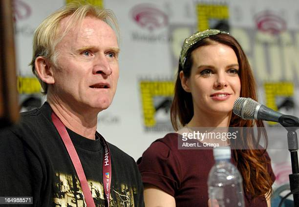 Actor Dean Haglund and actress Catherine Annette participate at WonderCon Anaheim 2013 Day 1 at Anaheim Convention Center on March 29 2013 in Anaheim...