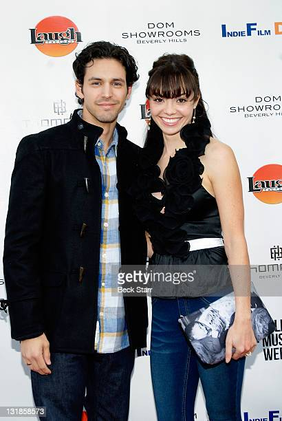 Actor Dean J West and actress Annemarie Pazmino attend the world premiere of 'Skyler' for the 2011 LA Film and Music Weekend Festival at Laemmle's...