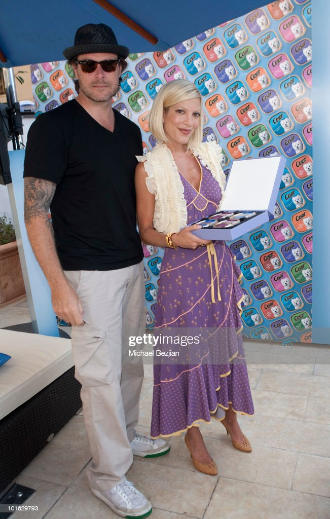 Actor Dean McDermott and actress Tori Spelling attend day 2 of Cesar Canine Cuisine at the Kari Feinstein MTV Movie Awards Style Lounge at Montage Beverly Hills on June 4, 2010 in Beverly Hills, California.