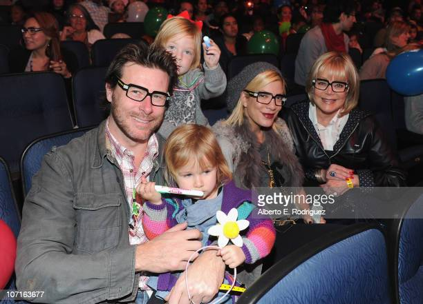 Actor Dean McDermott Stella McDermott Liam McDermott actress Tori Spelling and socialite Candy Spelling at Yo Gabba Gabba Live There's A Party In My...