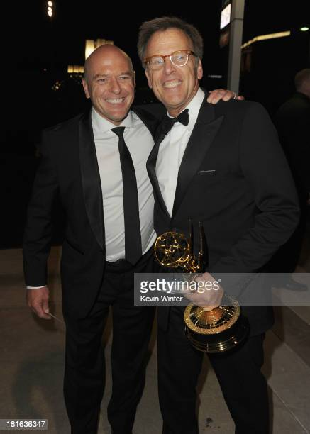 Actor Dean Norris and producer Mark Johnson attend the Governors Ball during the 65th Annual Primetime Emmy Awards held at Nokia Theatre L.A. Live on...