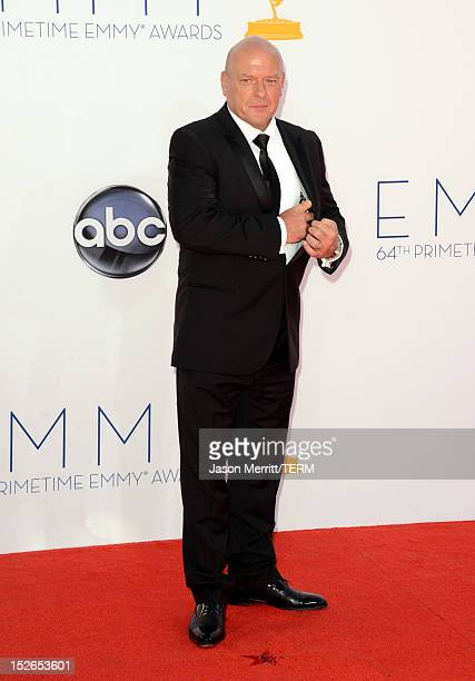 Actor Dean Norris arrives at the 64th Primetime Emmy Awards at Nokia Theatre L.A. Live on September 23, 2012 in Los Angeles, California.