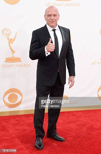 Actor Dean Norris arrives at the 65th Annual Primetime Emmy Awards held at Nokia Theatre L.A. Live on September 22, 2013 in Los Angeles, California.