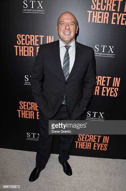 """Actor Dean Norris attends the Premiere of STX Entertainment's """"Secret In Their Eyes"""" at the Hammer Museum on November 11, 2015 in Westwood,..."""