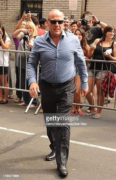Actor Dean Norris is seen on August 19, 2013 in New York City.
