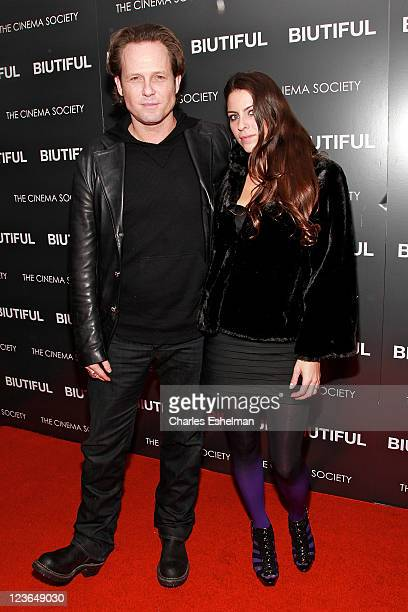 Actor Dean Winters and Candice Olson attend a screening of 'Biutiful' hosted by The Cinema Society with Miuccia Prada Sandra Brant Ingrid Sischy at...