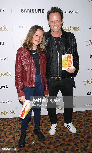 Actor Dean Winters and daughter attend the screening of 'The Jungle Book' hosted by Disney with The Cinema Society and Samsung at AMC Empire 25...