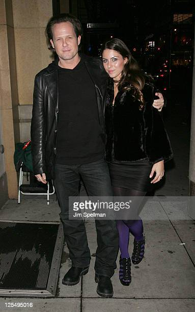Actor Dean Winters and guest attend a screening of Biutiful hosted by the Cinema Society with Miuccia Prada Sandra Brant Ingrid Sischy at the...