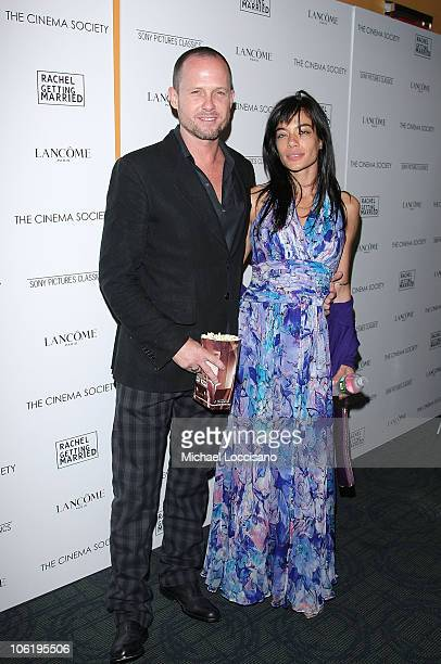 Actor Dean Winters and guest attend a screening of 'Rachel Getting Married' hosted by The Cinema Society and Lancome at the Landmark Sunshine Theatre...