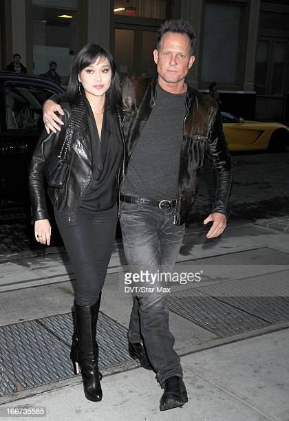 Actor Dean Winters and Jennifer Whalen as seen on April 15 2013 in New York City