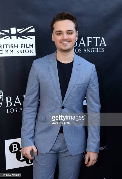 Actor DeanCharles Chapman attends a celebration for British Oscar nominees on February 07 2020 in Los Angeles California