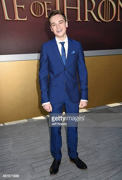 Actor DeanCharles Chapman attends HBO's Game of Thrones Season 5 Premiere and After Party at the San Francisco Opera House on March 23 2015 in San...