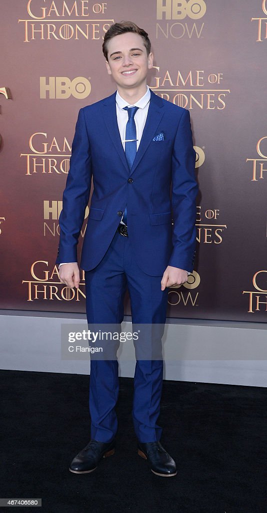 Actor Dean-Charles Chapman attends HBO's 'Game of Thrones' Season 5 Premiere at the San Francisco War Memorial Opera House on March 23, 2015 in San Francisco, California.