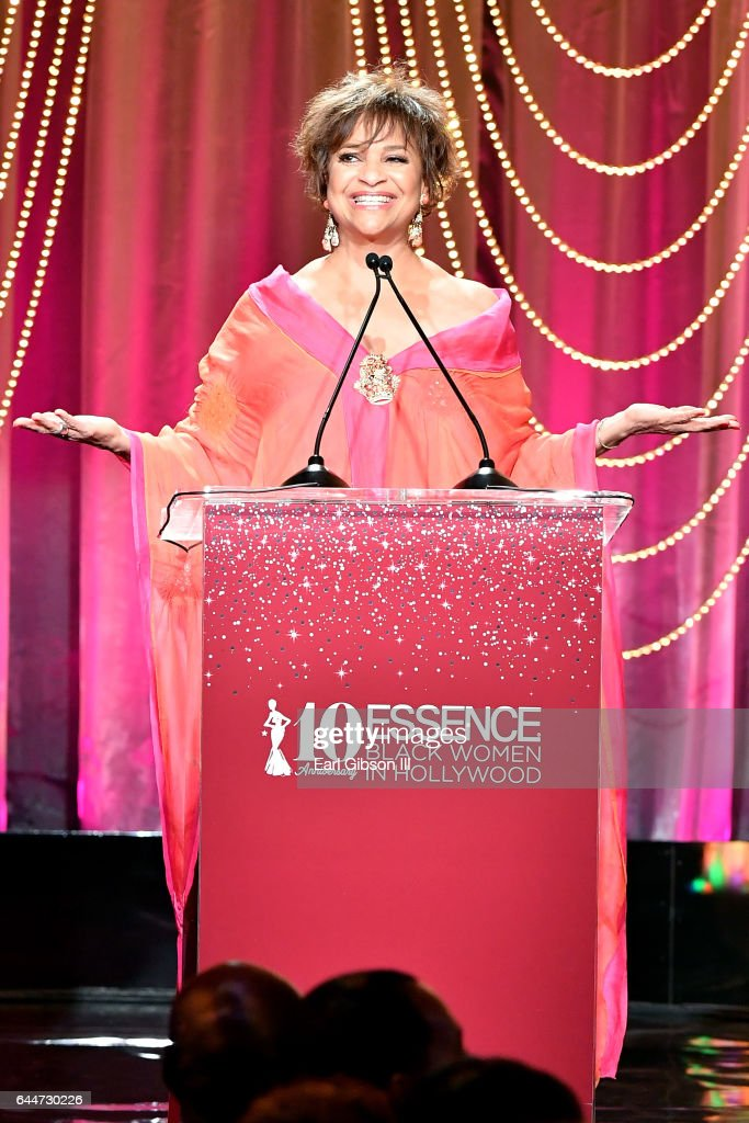 Actor Debbie Allen speaks onstage at Essence Black Women in Hollywood Awards at the Beverly Wilshire Four Seasons Hotel on February 23, 2017 in Beverly Hills, California.
