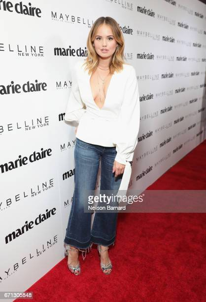 Actor Debby Ryan attends Marie Claire's 'Fresh Faces' celebration with an event sponsored by Maybelline at Doheny Room on April 21 2017 in West...