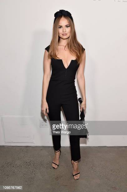 Actor Debby Ryan poses backstage for Cushnie fashion show during New York Fashion Week The Shows at Gallery I at Spring Studios on February 8 2019 in...