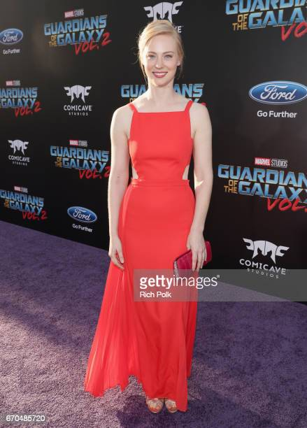 """Actor Deborah Ann Woll at The World Premiere of Marvel Studios' """"Guardians of the Galaxy Vol 2"""" at Dolby Theatre in Hollywood CA April 19th 2017"""