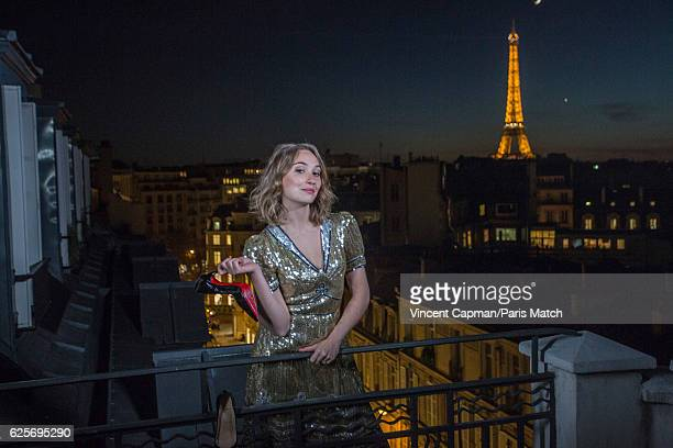 Actor Deborah François is photographed for Paris Match on November 3 2016 in Paris France