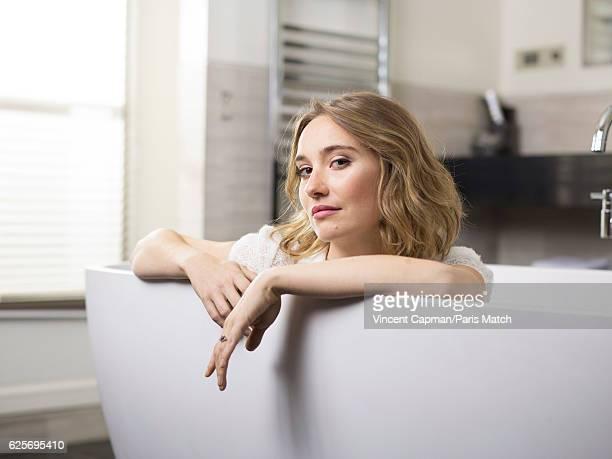Actor Deborah François is photographed for Paris Match on November 3 2016 in Paris France