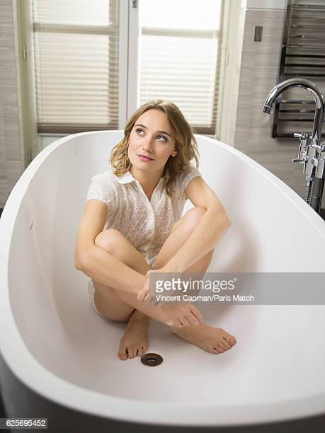 Actor Deborah FranÁois is photographed for Paris Match on November 3 2016 in Paris France