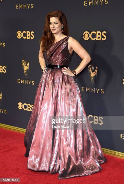 Actor Debra Messing attends the 69th Annual Primetime Emmy Awards at Microsoft Theater on September 17 2017 in Los Angeles California