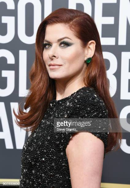 Actor Debra Messing attends The 75th Annual Golden Globe Awards at The Beverly Hilton Hotel on January 7 2018 in Beverly Hills California
