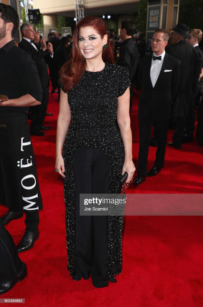 Actor Debra Messing celebrates The 75th Annual Golden Globe Awards with Moet & Chandon at The Beverly Hilton Hotel on January 7, 2018 in Beverly Hills, California.