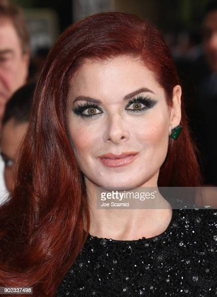 Actor Debra Messing celebrates The 75th Annual Golden Globe Awards with Moet Chandon at The Beverly Hilton Hotel on January 7 2018 in Beverly Hills...