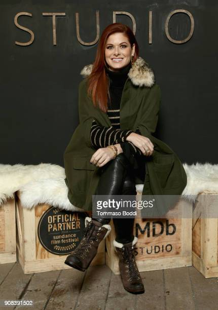 Actor Debra Messing from 'Search' attends The IMDb Studio and The IMDb Show on Location at The Sundance Film Festival on January 21 2018 in Park City...